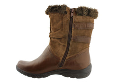 Planet Shoes Freya Womens Leather Warm Boots