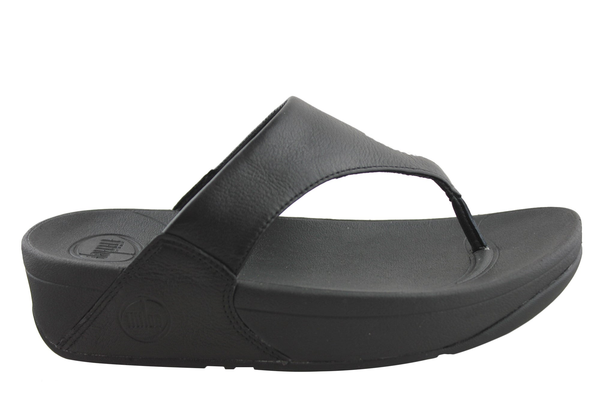 76e49f43820726 Home FitFlop Lulu Leather Womens Comfort Thong Sandals. Sale is over. Black  ...
