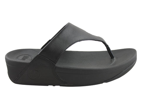 FitFlop Lulu Leather Womens Comfort Thong Sandals