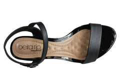 Beira Rio Lane Womens Cushioned Low Heel Sandals Made In Brazil