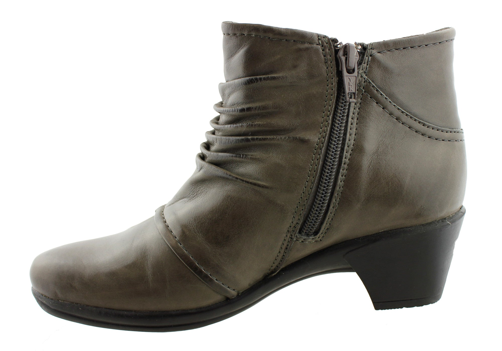 Planet Shoes Ashton Womens Leather Mid Heel Ankle Boots
