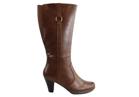 Natural Comfort Rebecca Womens Leather Knee High Boots