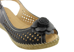Bellissimo Rosie Womens Comfortable Wedge Sandals