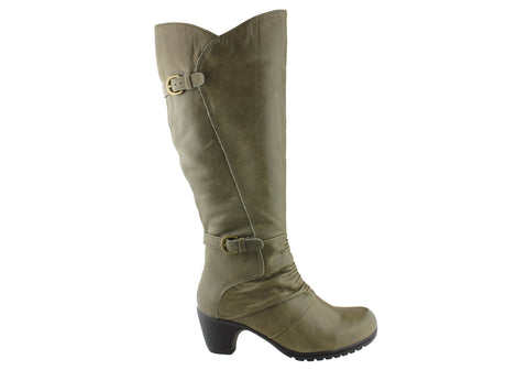Planet Shoes Dame Womens Knee High Leather Boots