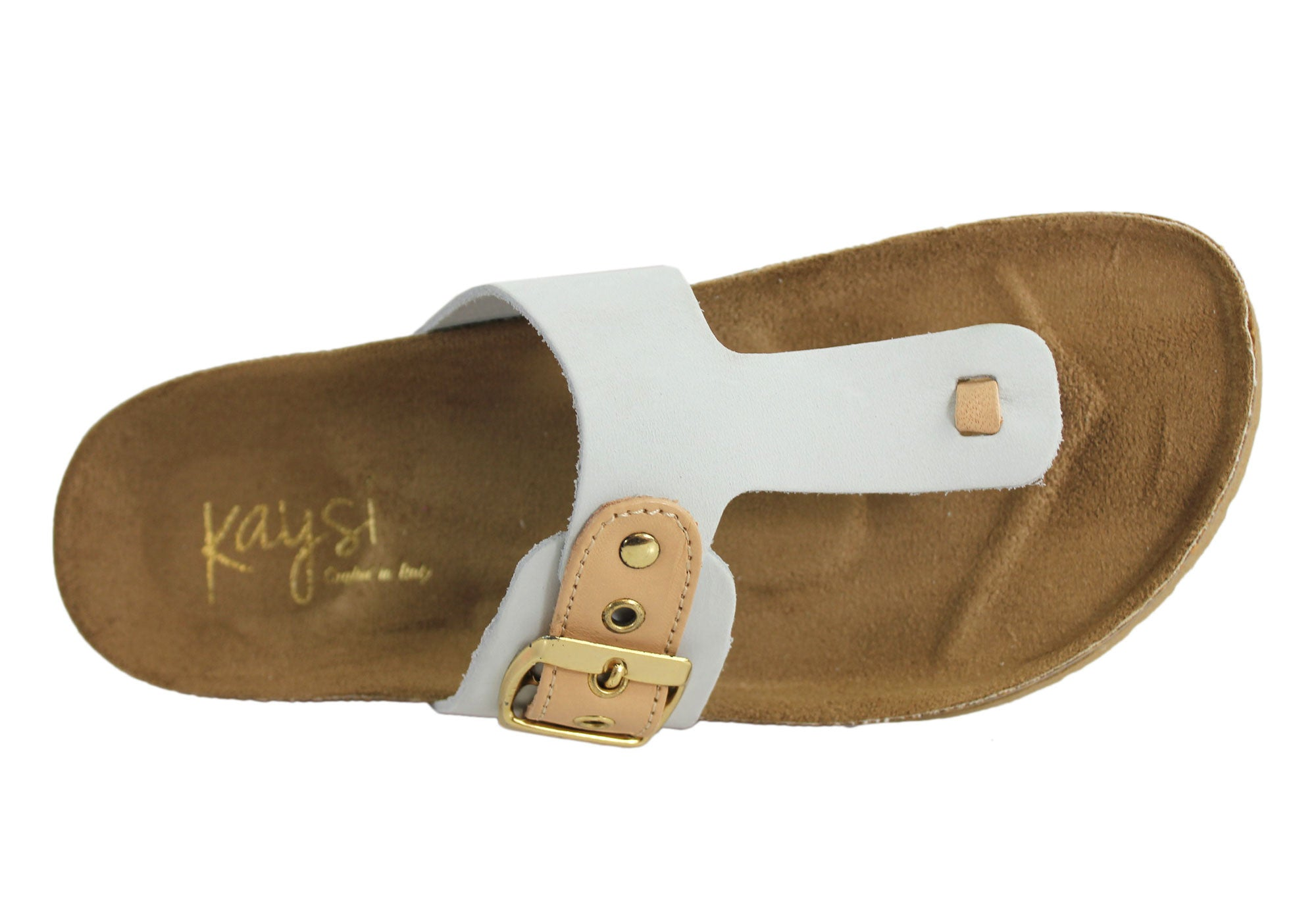 Kaysi Eva Womens Leather Thongs Crafted In Italy