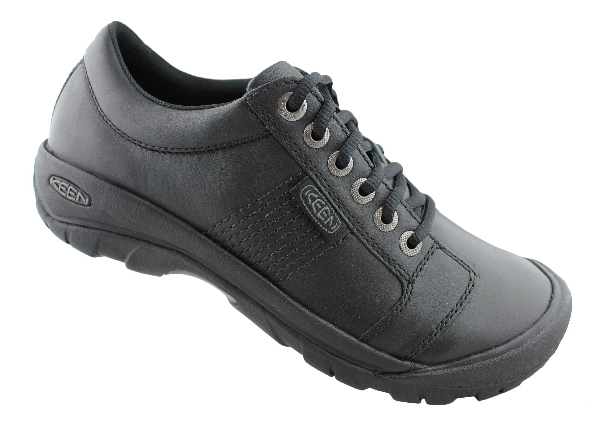 Keen Austin Mens Leather Wide Fit Casual Shoes