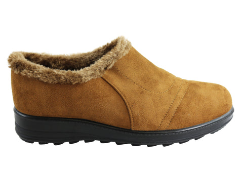 Bellissimo Eleanor Womens Fur Lined Comfort Warm Casual Shoes