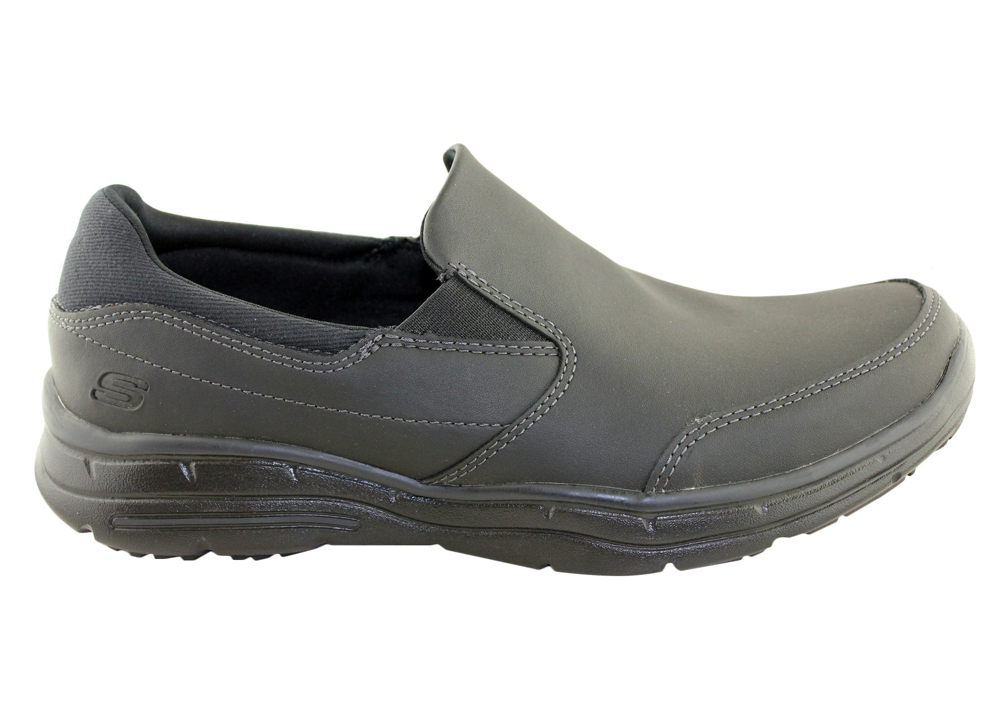 9c2ae7a7c57c Home Skechers Mens Glides Calculous Relaxed Fit Shoes. Black ...