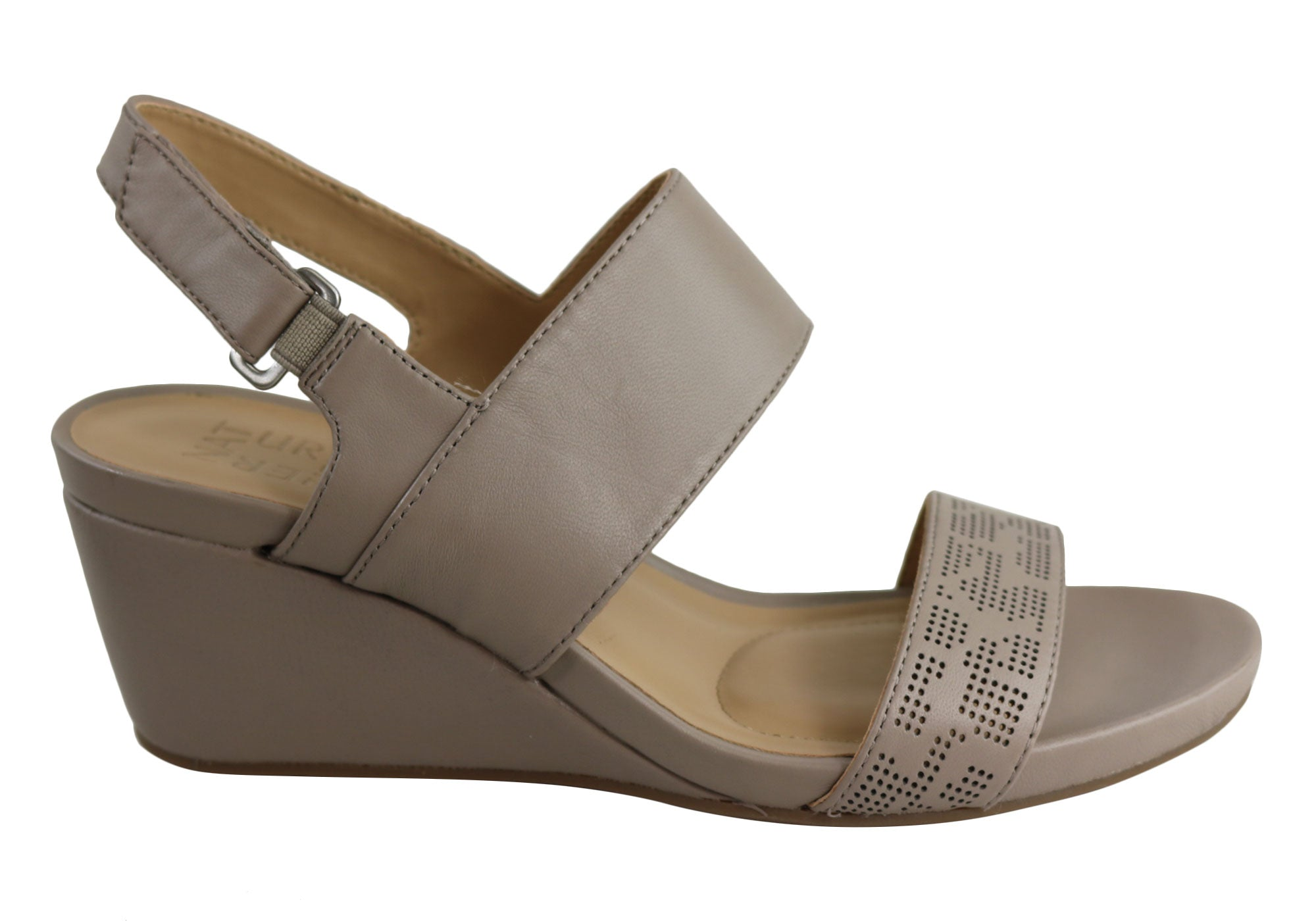 7d8066e94a Home Naturalizer Callas Womens Comfort Wide Fit Leather Wedge Sandals.  Taupe ...