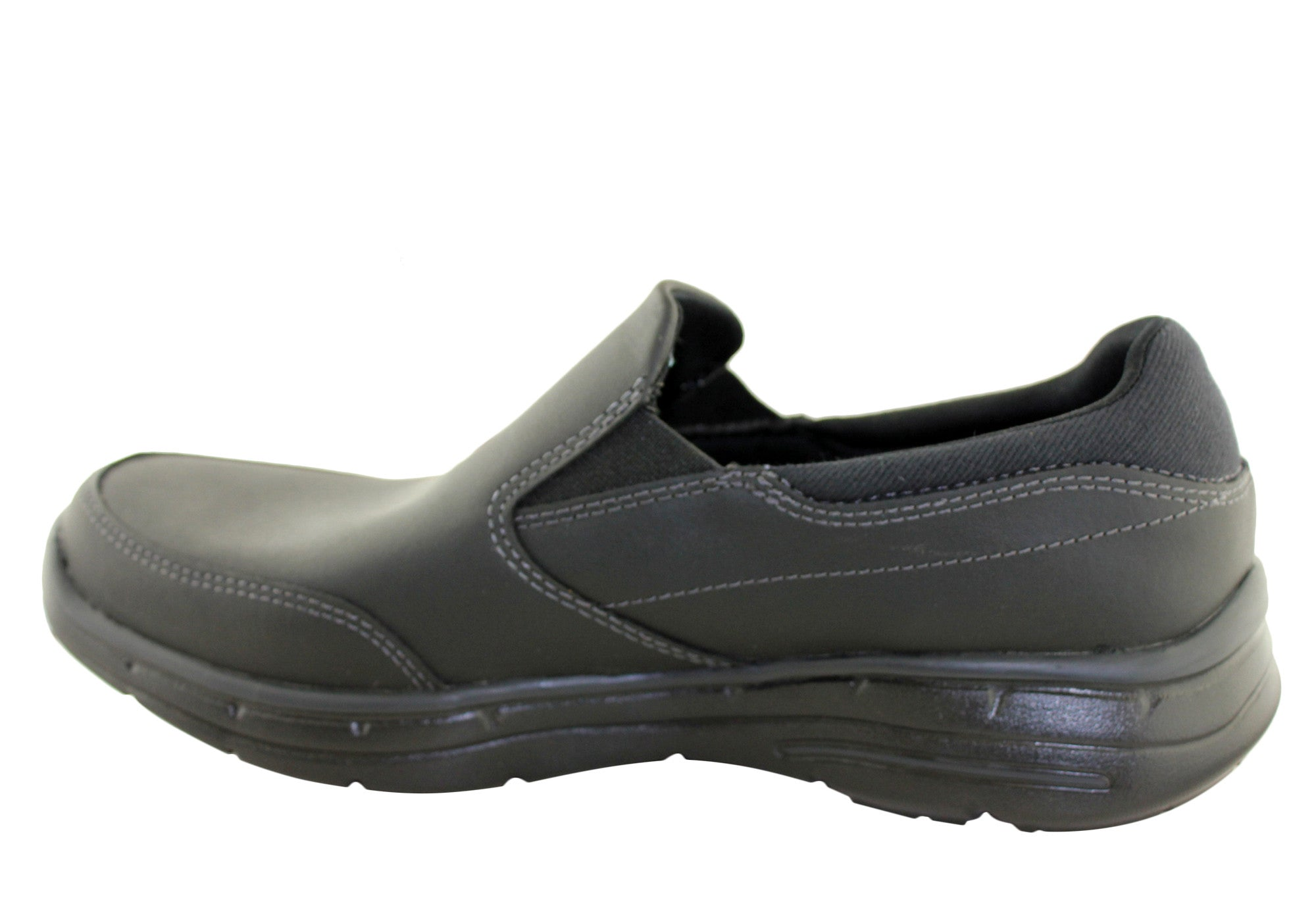 95f8cf6b098 Skechers Mens Glides Calculous Relaxed Fit Slipon Shoes