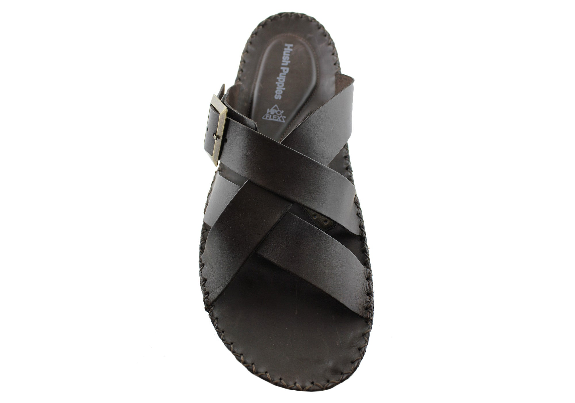 Hush Puppies Mens Leather Morocco Slide/Sandal