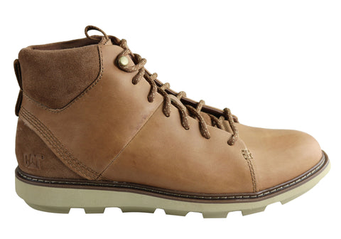 Caterpillar Brusk Hi Mens Wide Width Comfortable Leather Lace Up Boots