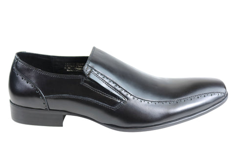 Knight Badge Mens Leather Slip On Dress Shoes