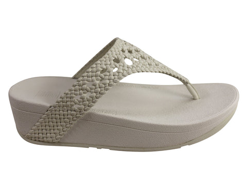 Fitflop Womens Comfortable Lottie Wicker Toe Post Thongs Sandals