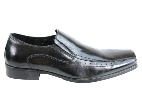 Knight Jax Mens Leather Slip On Dress Shoes