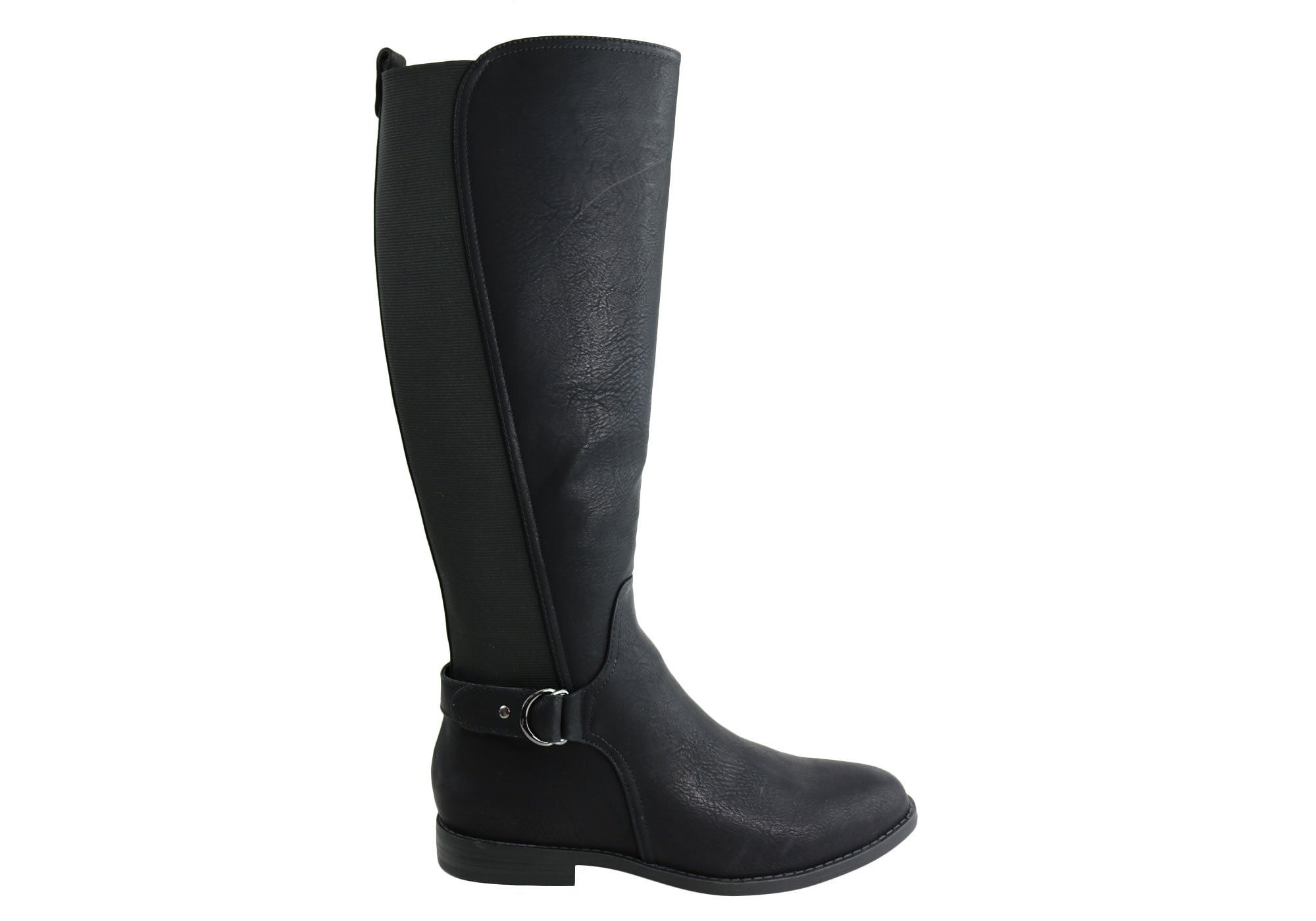 749a78973a6 Bellissimo Rebel Womens Comfort Flat Knee High Wide Calf Boots ...