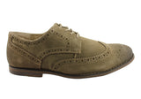 Hush Puppies Modern Mens Suede Lace Up Brogue