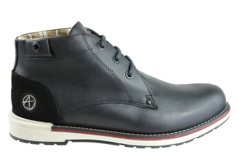Ferracini Trevor Mens Leather Lace Up Fashion Boots Made In Brazil