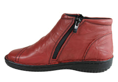 Cabello Comfort 5250-27 Womens Leather Boots Made In Turkey