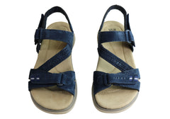 Planet Shoes Billie Womens Comfortable Leather Supportive Flat Sandals