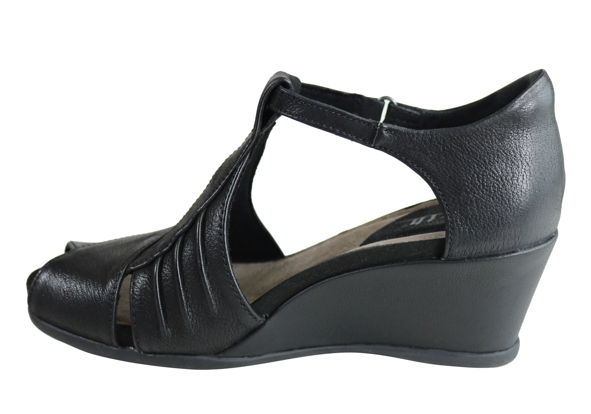 Earth Primrose Womens Comfortable Leather Wedge Sandals