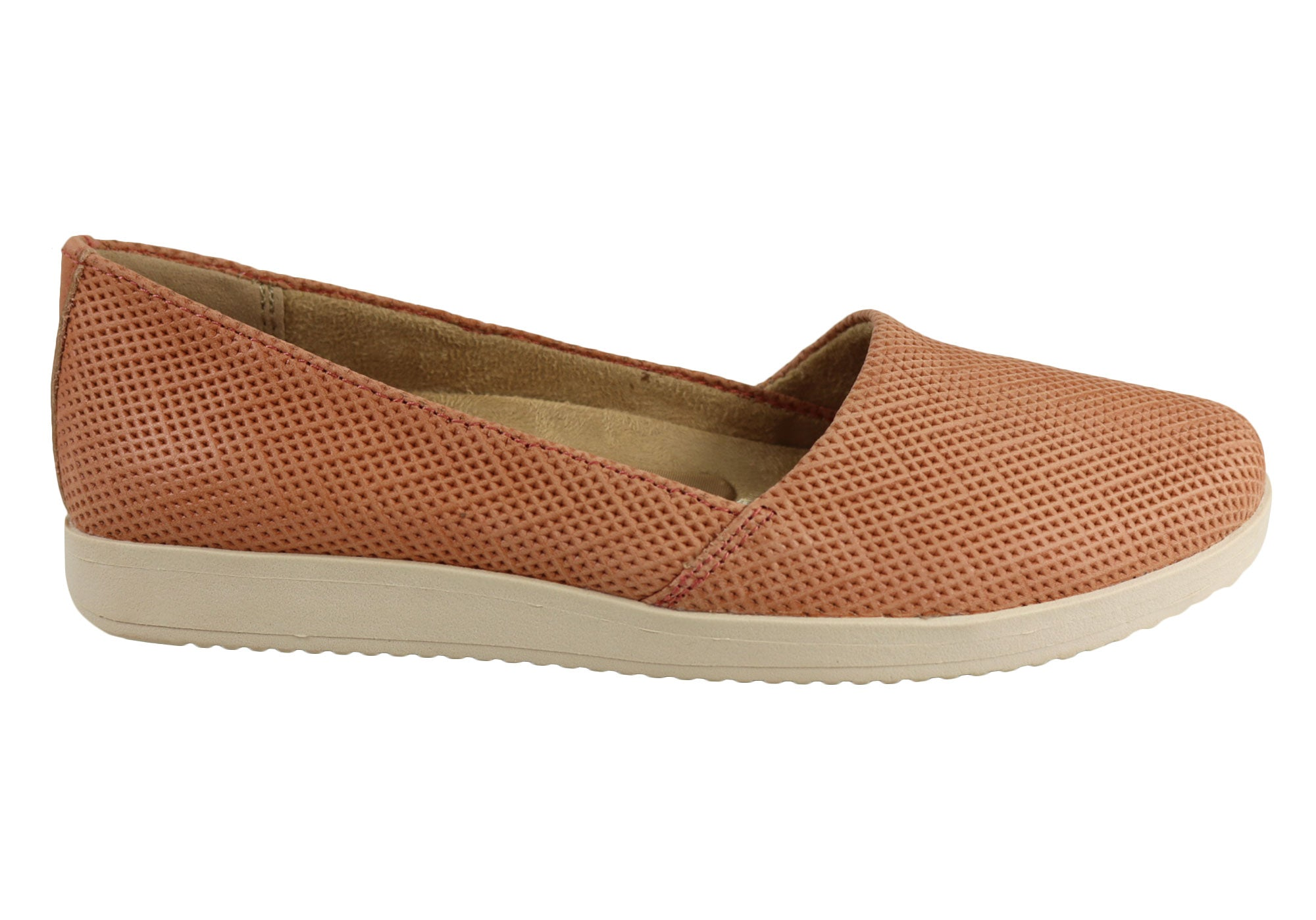 3d551221fb81 Home Naturalizer Dalia Womens Comfortable Wide Fit Everyday Flat Shoes.  Coral ...