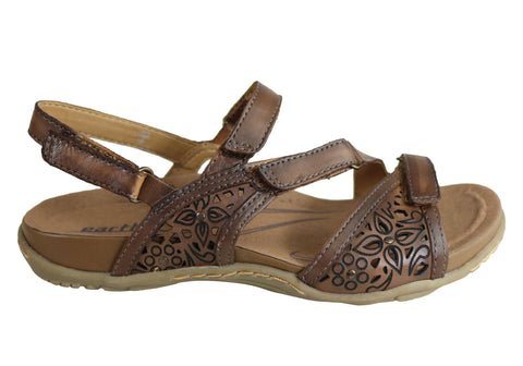 Earth Maui 2 Womens Comfortable Supportive Flat Leather Sandals