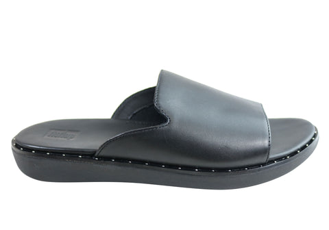 Fitflop Womens Comfortable Saffi Leather Slides Sandals