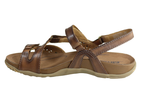 8d5b78c36abe83 Earth Maui Womens Comfortable Supportive Flat Leather Sandals ...