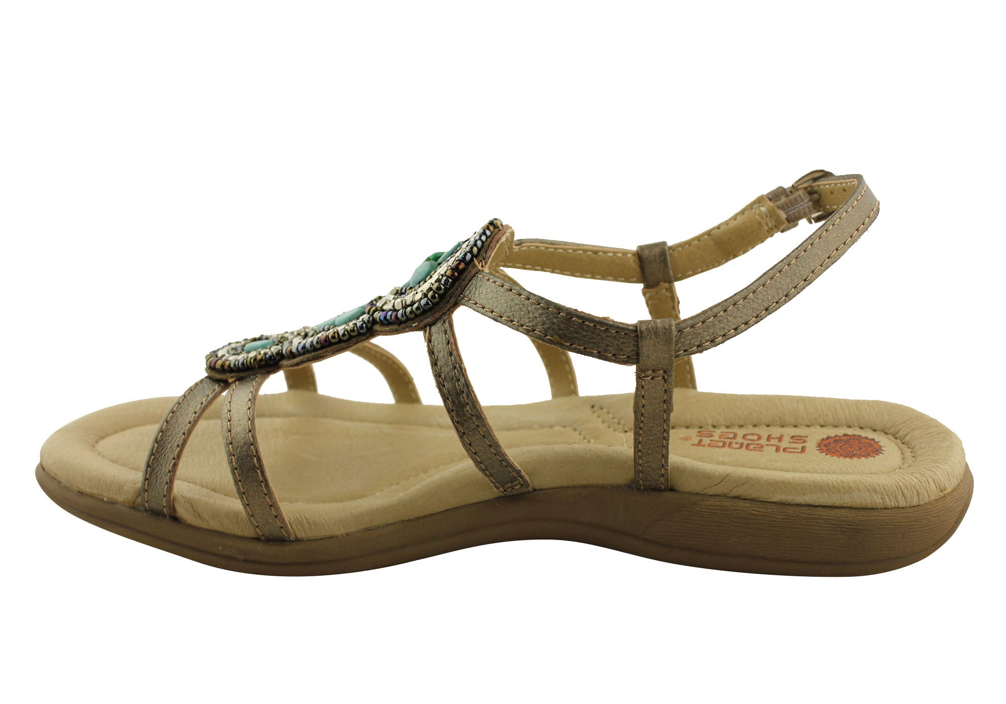Planet Shoes Graph Womens Leather Comfort Sandals