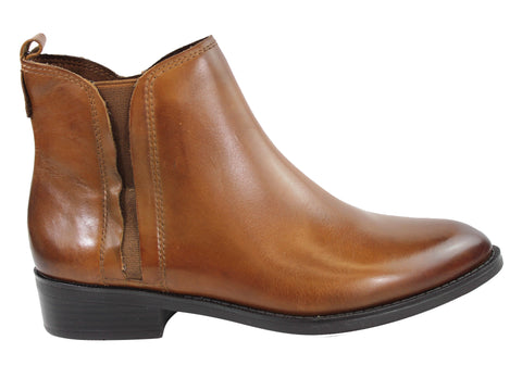 Gino Ventori Secret Womens Leather Chelsea Ankle Boots