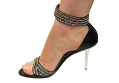 Hollywood Heels Rosie Black Dressy Evening Heels