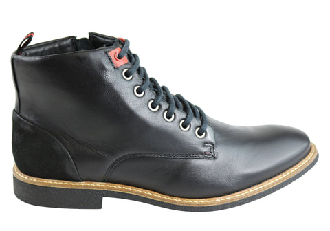 Ferracini Randle Mens Leather Lace Up Fashion Boots Made In Brazil