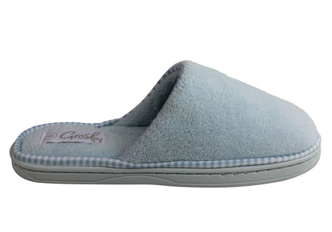Grosby Womens Invisible Loop Comfortable Open Back Slippers