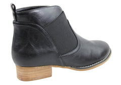 Lavish Shyler Womens Low Heel Fashion Ankle Boots