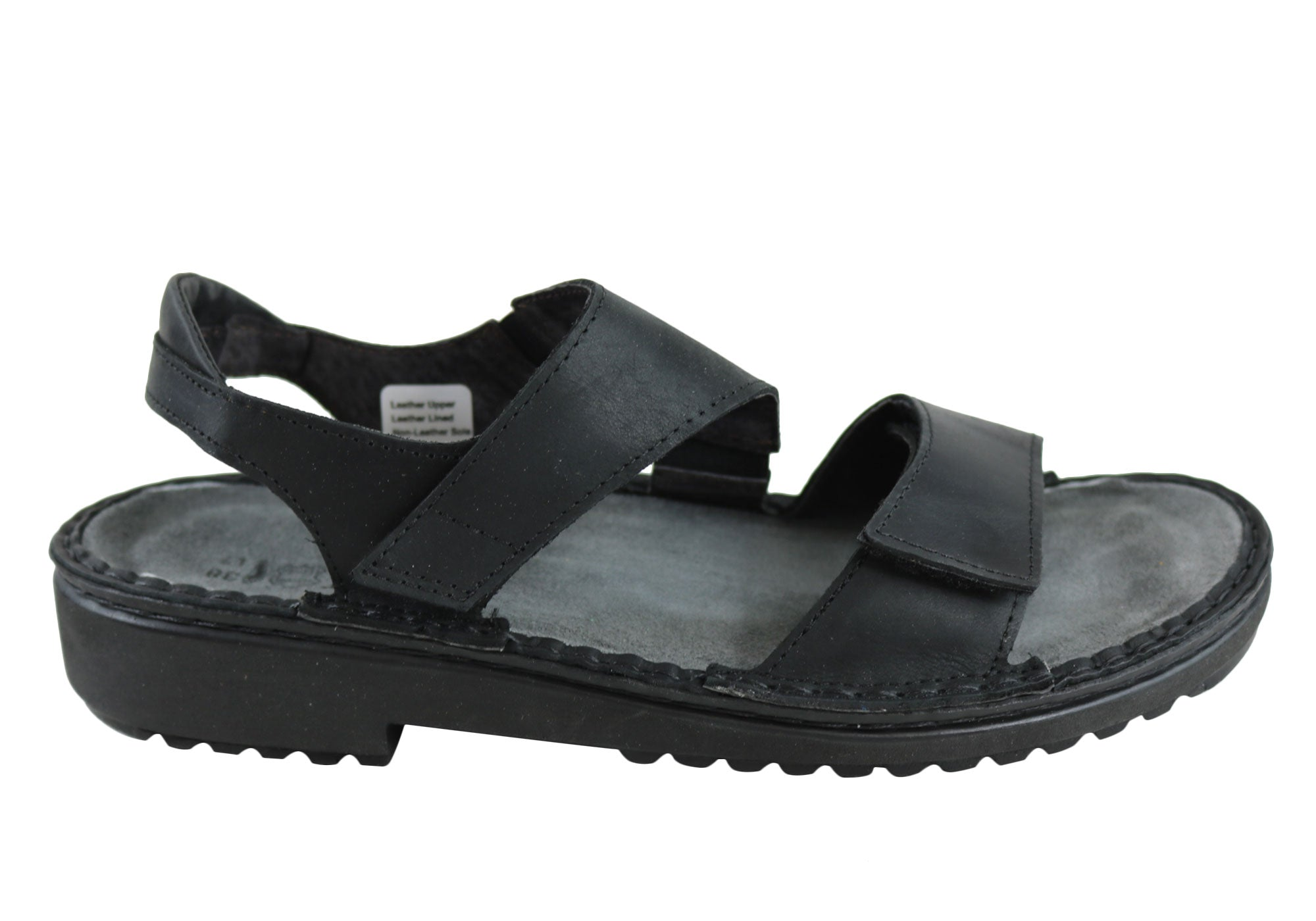 dc0bc01b6d36 Home Naot Enid Womens Comfort Orthotic Friendly Adjustable Strap Sandals.  Coal ...