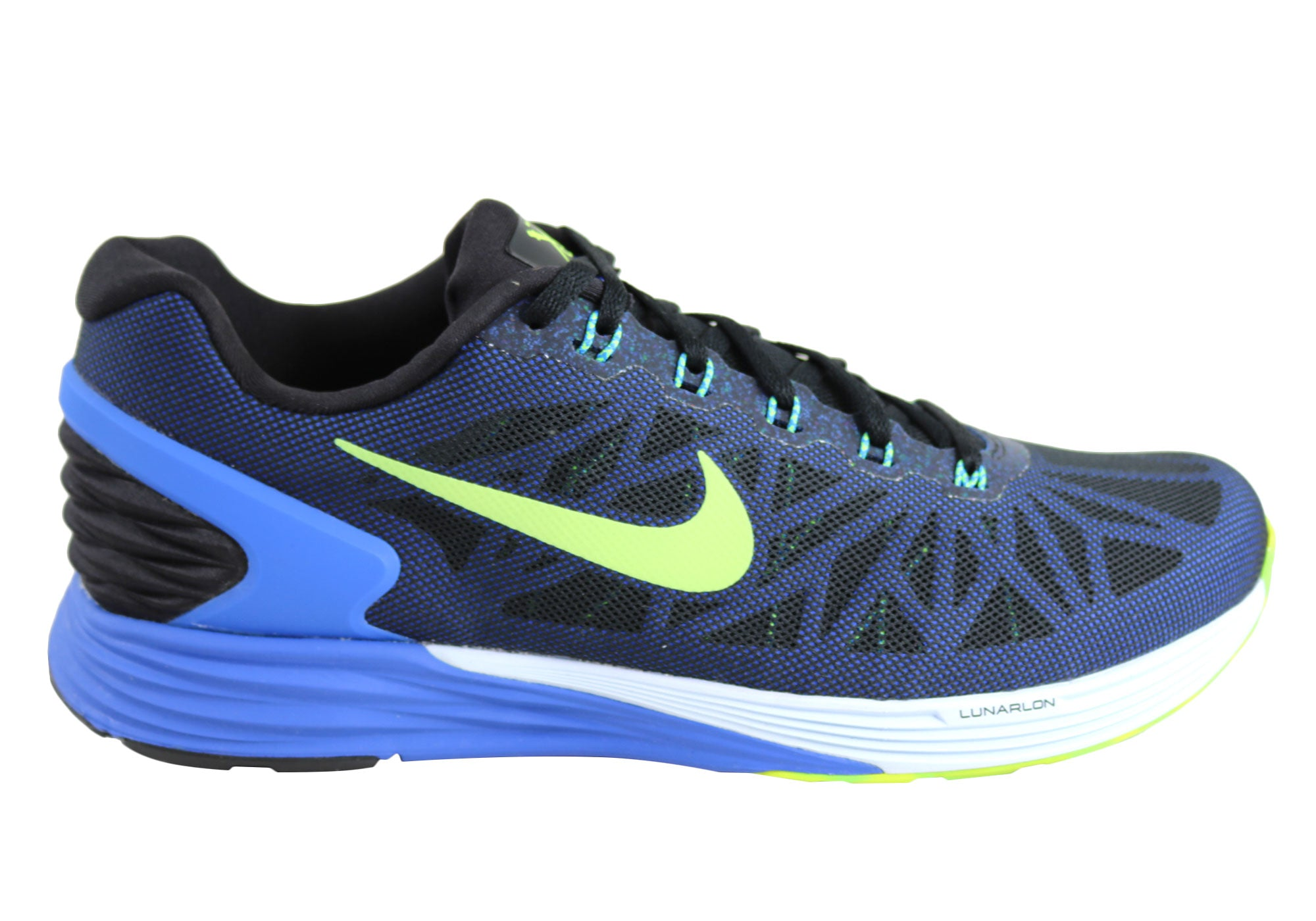 New Mens Nike Lunarglide 6 Running Cushioned Sport Shoes  2a82d6c5d1a9