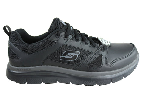 Skechers Flex Advantage SR Mens Leather Slip Resistant Sole Work Shoes