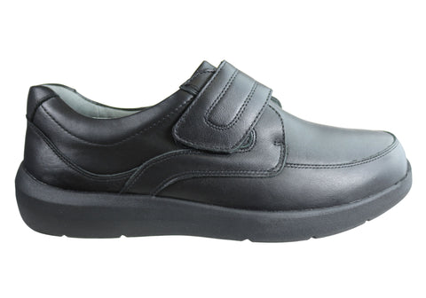Homyped Saxon Mens Leather Supportive Comfort Extra Extra Wide Shoes