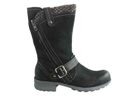 Planet Shoes Pugg & Pugg2 Womens Comfortable Leather Mid Calf Boots