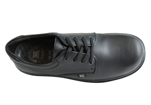 ROC Strobe Senior Lace Up Comfortable Leather School Shoes  7289f794a