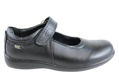 Roc Juliette Junior Girls Comfortable Leather Mary Jane School Shoes