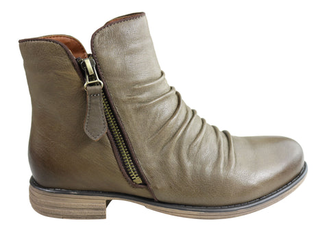 Natural Comfort Elisa Womens Comfortable Leather Ankle Boots