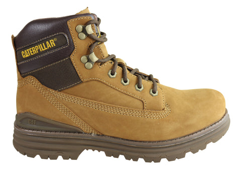 Caterpillar Baseplate Mens Nubuck Leather Comfortable Lace Up Boots