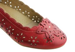 Planet Shoes Elate Womens Leather Comfort Flats