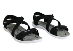 Bellissimo Vida Womens Comfort Flat Sandals With Adjustable Straps
