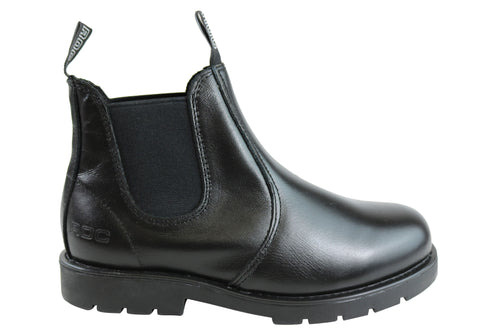 Roc Jumbuk Senior Older Boys/Mens Pull On Leather Boots