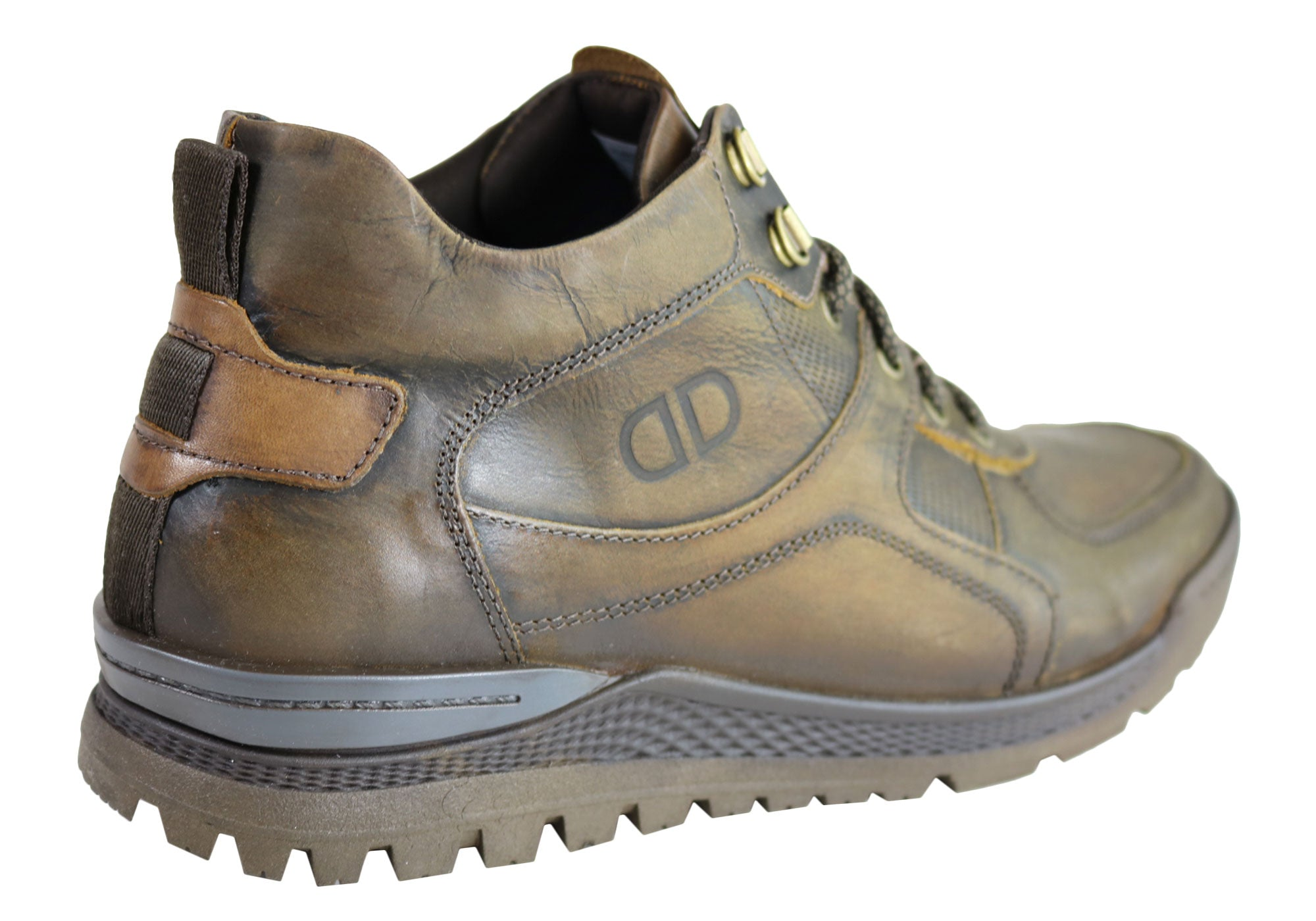 NEW-DEMOCRATA-DIEGO-MENS-LEATHER-LACE-UP-DRESS-BOOTS-MADE-IN-BRAZIL thumbnail 8