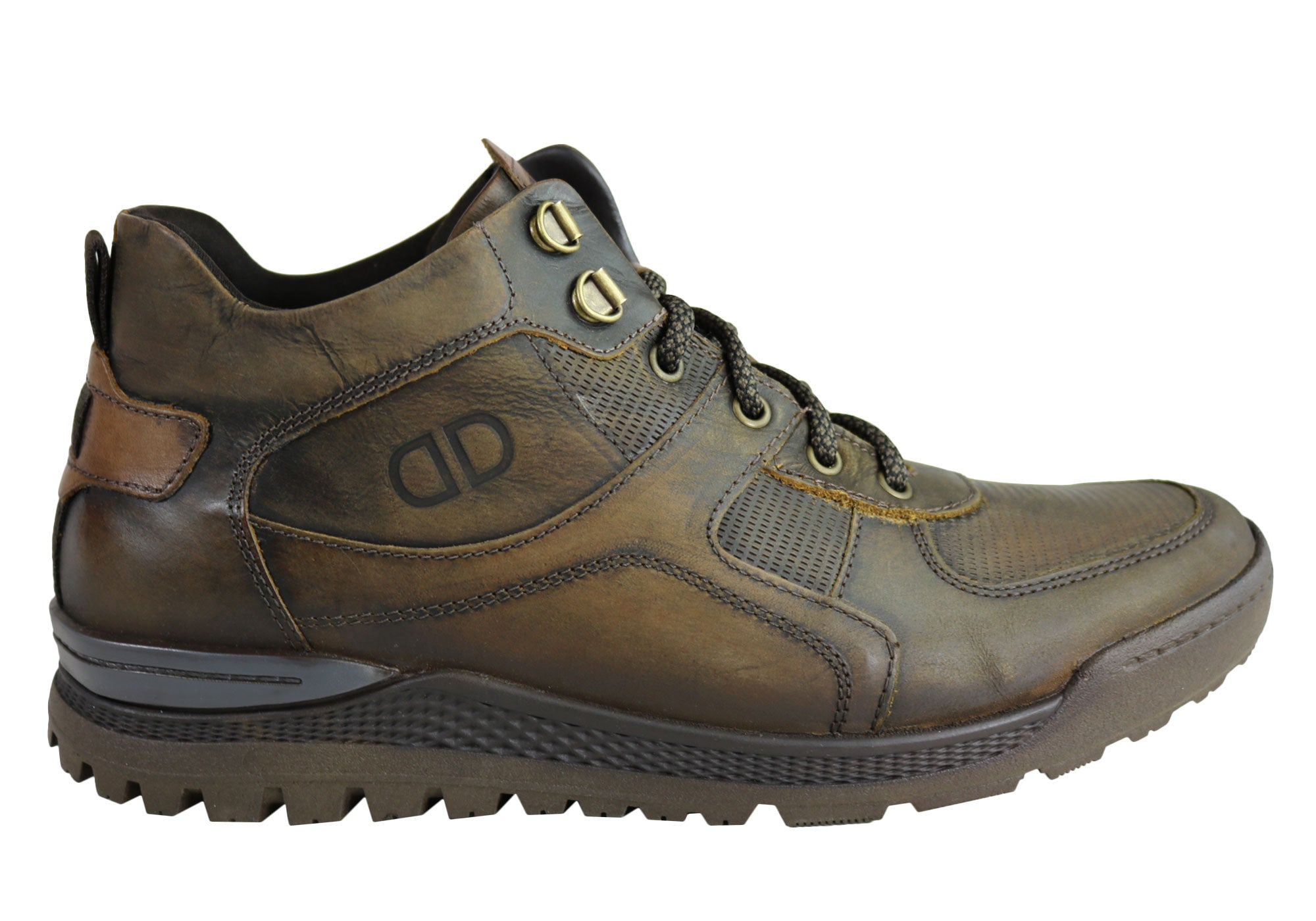NEW-DEMOCRATA-DIEGO-MENS-LEATHER-LACE-UP-DRESS-BOOTS-MADE-IN-BRAZIL thumbnail 9