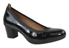Hispanitas Womens Patent Court Shoes Made In Spain